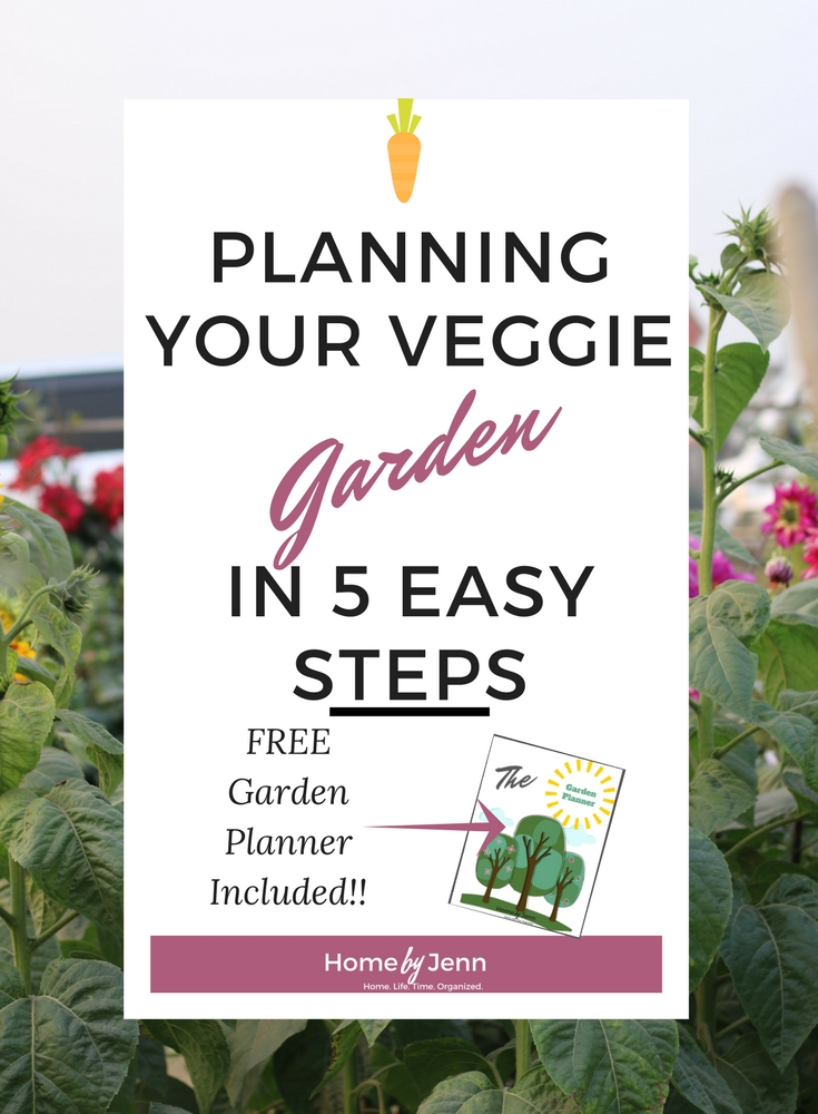 Plan out your garden this year.  If you know know where to start, click here and learn how to plan your veggie garden in 5 simple steps. Free garden planner included!