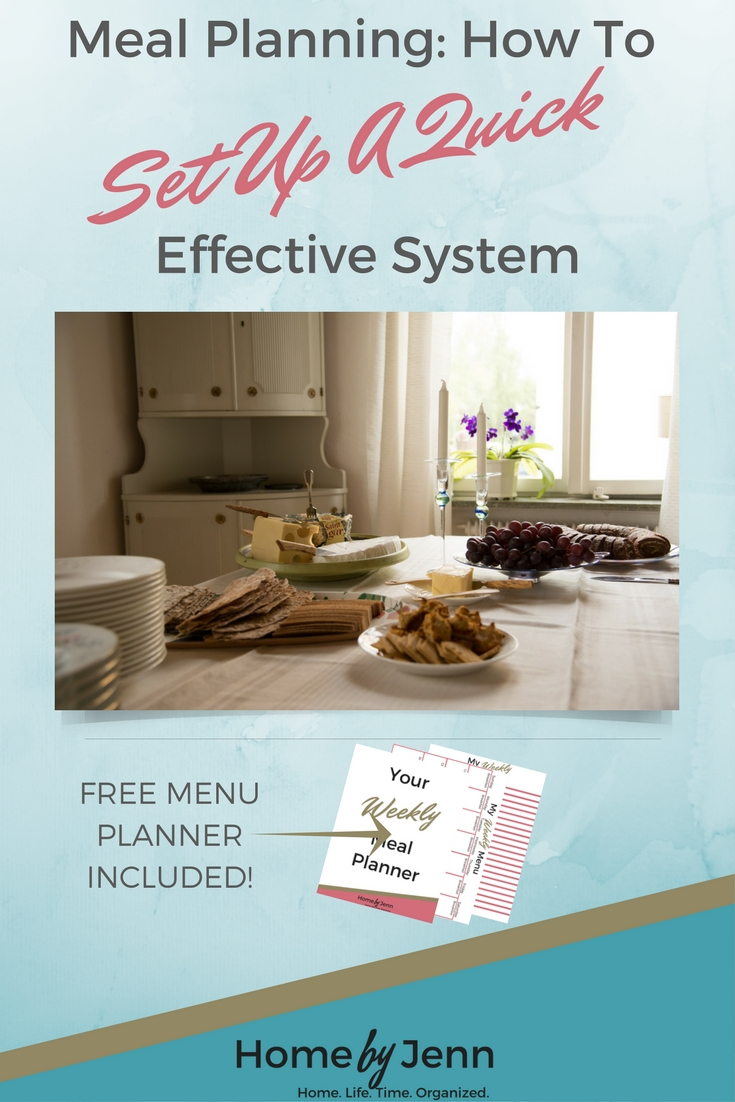I show you step by step the easiest way to set up a weekly menu.  You will stay so organized and ready to head to the grocery store with a plan.  Say goodbye to the days of not having a plan.  This also comes with a FREE meal planner and shopping list.  Click through and start taking action now!