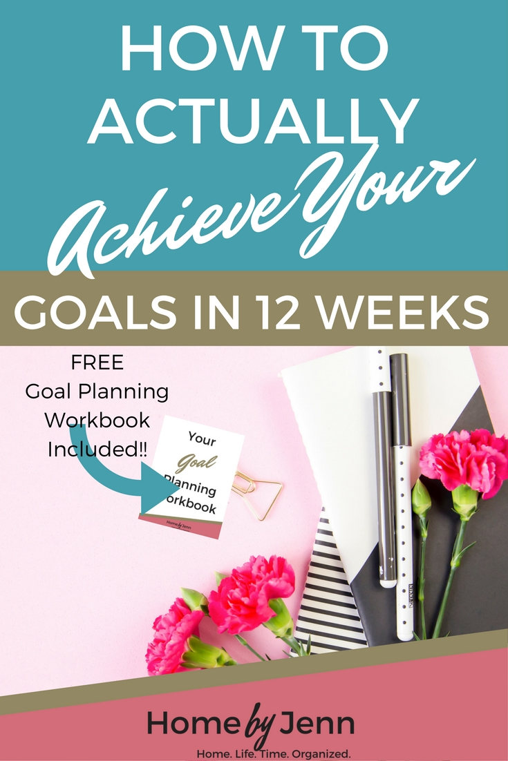 Learn how to actually achieve your goals in 12 weeks in this post.  It couldn't be more easy with the help of the goal planning workbook that is included.  Don't forget to download the workbook!