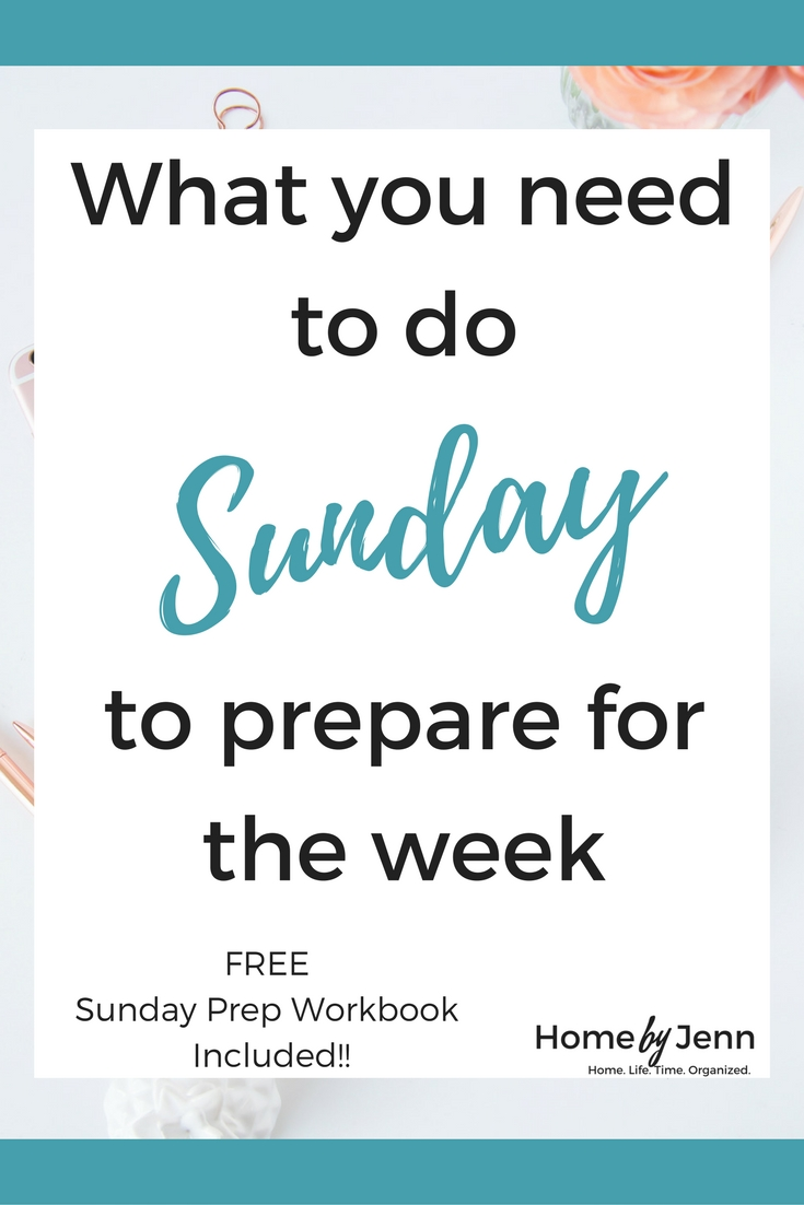 In this post, you'll learn the few things you can do on Sunday to save you tons of time during the week. It also comes with a completely free Sunday Prep Workbook to help you organize your Sundays! Click through to learn more.