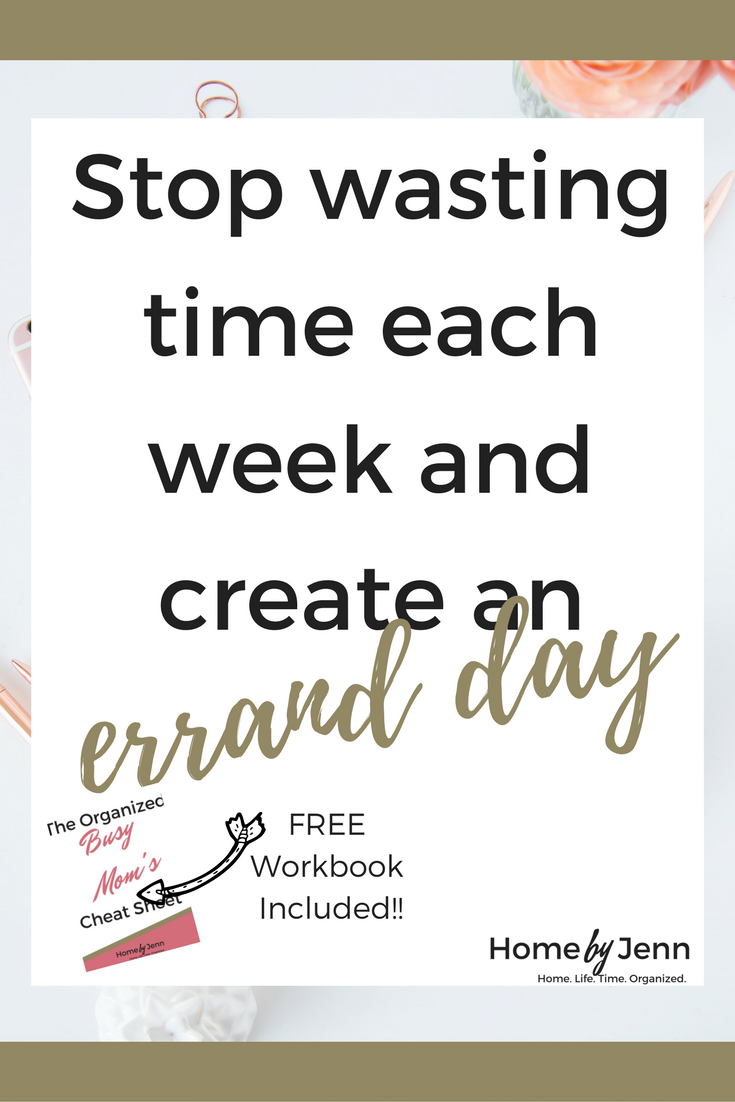 Save time and money each week by creating an errand day.  You'll learn exactly how to put it together plus you can download the free errand day workbook.