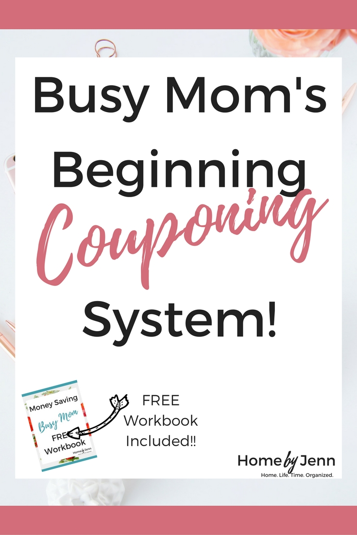 Oh, coupons how I love and hate the!  They save us money but they can take a ton of time to put together.  Making coupons just not worth it.  In this post, I'm going to show you how any busy mom can start a couponing system without wasting too much time.  You'll also want to download the free Money Saving Busy Mom workbook!