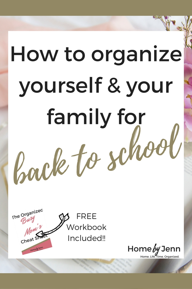 If you struggle with getting you and your family organized for the school year, then you need this post.  In this post I share the 5 things that you should do to organize yourself and your family for the upcoming school year.  Included is the free Organized Busy Mom Cheat Sheet to help you out.