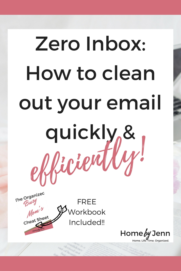 How to set up your email so you can successfully achieve a zero inbox. This post will walk you through step by step on how to set up your email so you are not overwhelmed with a TON of emails every time you open up you email. A FREE Zero Inbox checklist is also included. Click through to set up your email and get your free checklist!