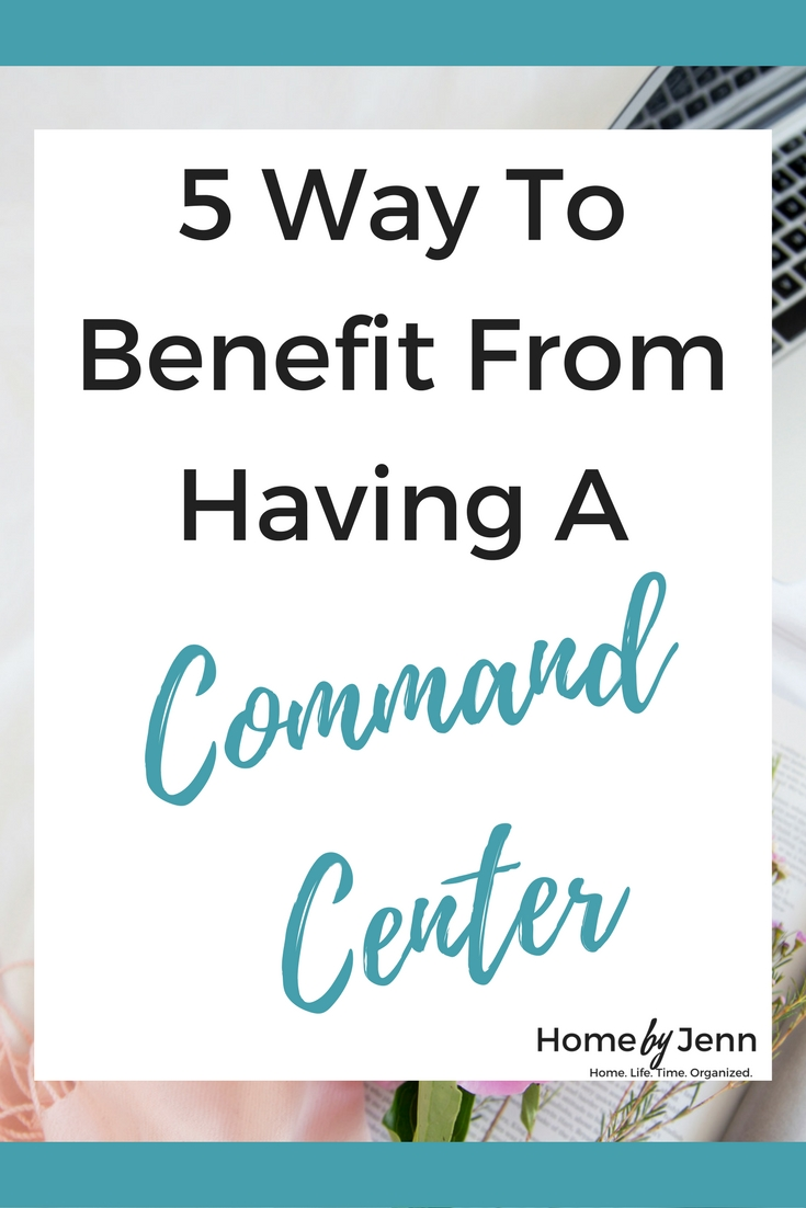 If you are ready to organize your entire family then you need to read this post.  You'll learn the 5 benefits you'll get out of creating a family command center in your home.  It is easier than you think.  Click through to learn more.