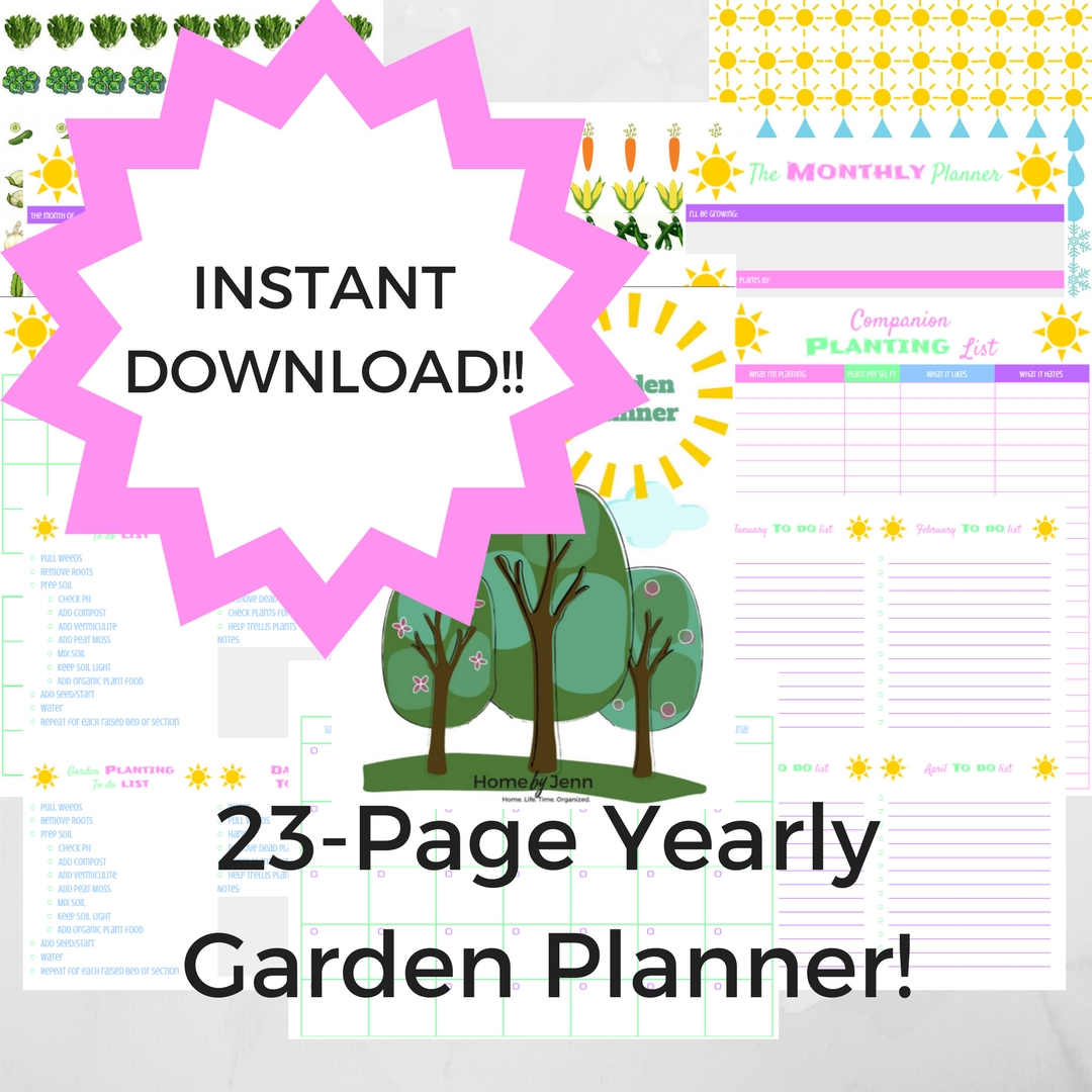 Plan out your square foot garden with the only garden planner you'll ever need. Use this planner year after year.