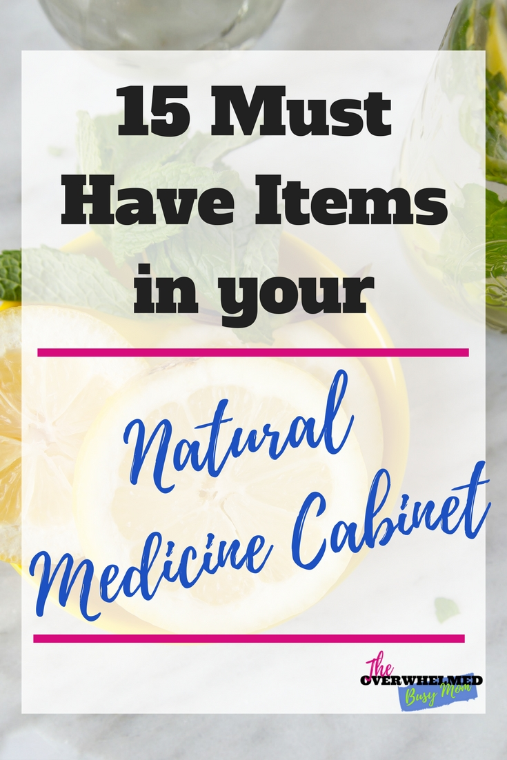 In this post, you'll learn the 15 items you need to stock in your medicine cabinet to help keep you and your family healthy during the cold and flu season.  You'll also learn what these 15 item do to help you stay healthy.