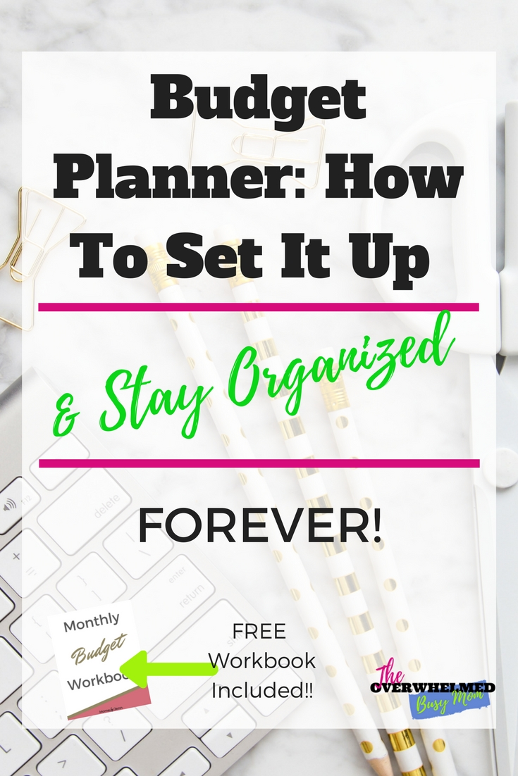 If you are frustrated with not being organized with your finances then you'll enjoy this post.  Jenn shares her tips with you about how you can set up a budget planner and keep your finances organized.  Included is a free mine budget workbook. #organizeyourfinances #budgetplanner #settingupabudgetplanner #budgetplannerforbusymoms #organizedbuduget #budget #wheretostartbudget #budgetingforbeginners