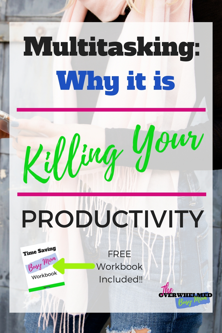 There are so many distraction within our daily life. It is hard to work with out feeling the need to multitask or give in to distractions. However, by doing this you are setting yourself up for failure. In this post it explains why multitasking and distractions are killing your productivity and what you can do to stop the vicious cycle. There is also a free checklist to follow to keep you from falling into that trap again. Click through to find out what you can do and download the checklist now!
