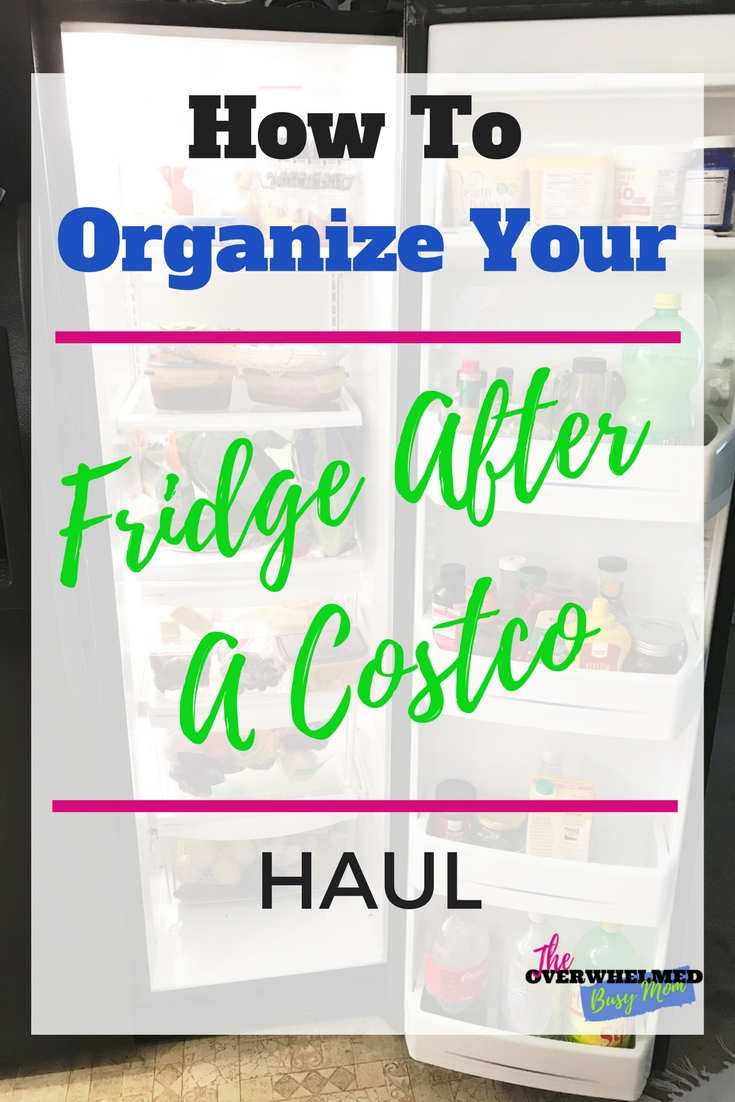 In this post, Jenn shares her before and after process of clearing out and organizing her fridge so her Costco haul can fit in her fridge.  #cleaning #organized #cleanfridge #cleanhome #homemaking #organizedhome