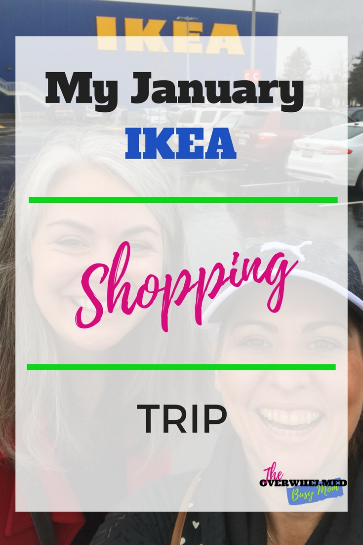In this post, Jenn shares her January shopping trip through IKEA as she is updating her home room by room.  Become inspired and get an inside look at how she's going to update her home. #organizing #IKEA #shoppingtrip #organizedhome #Theoverwhelmedbusymom #ikeahaul