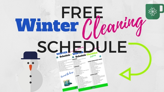 winter cleaning schedule
