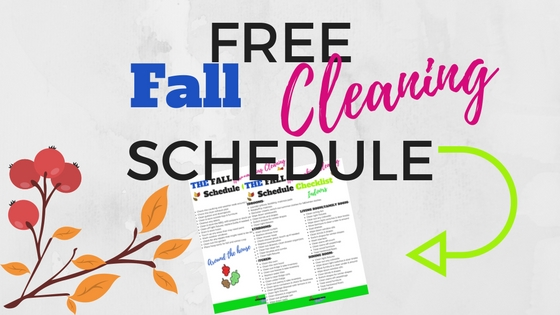 fall cleaning schedule