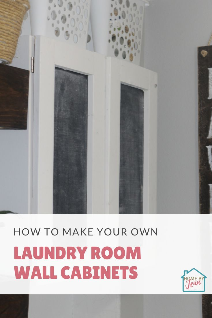 Learn how to build a laundry room wall cabinet so you can add more laundry room storage.  If you're looking for laundry room organization ideas this is a perfect woodworking project for beginners.  #laundryroom #laundryroomorganization #laundryroomideas #laundryroomstorage #laundryroommakeover #laundryroomideassmall #smalllaundryroom #smalllaundryroomorganization #smalllaundryroomideas #smalllaundryroomstorage #smalllaundryroommakevoer