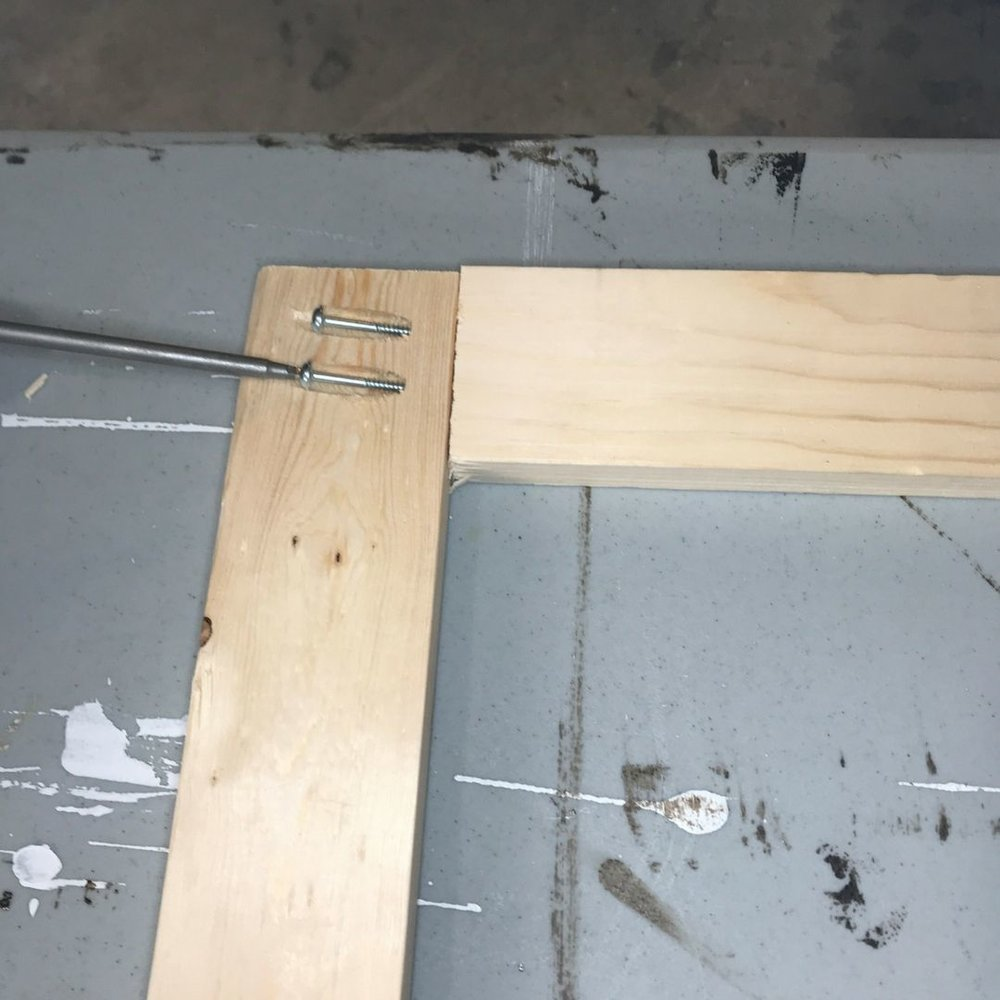 assemble laundry room cabinet door frame.jpg
