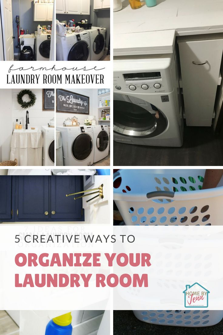 Here are 5 creative ways to organize your laundry room. Sometime you need laundry room organizing ideas to help inspire you.  #laundryroom #laundryroomorganizing #laundryroomorganizingideas #smalllaundryroom #smalllaundryroomideas #smalllaundryroomorganizingideas #laundryroomdecor #laundryroomideassmall