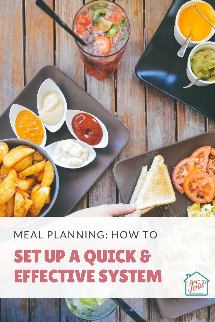Meal Planning: How To Set Up A Quick & Effective System