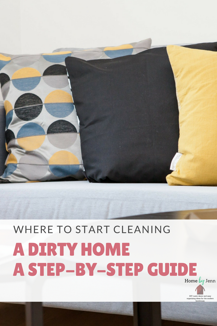 Knowing where to start in the cleaning process can be so overwhelming.  If you are already overwhelmed with the cleaning process then trying to figure out where to start will just make things worse.  In this post, I will show you how to pick where to start when it comes to cleaning your house.