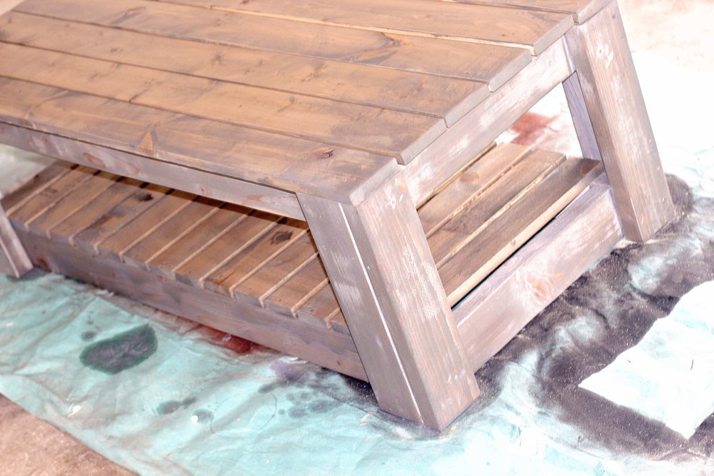 coffee table grey stain