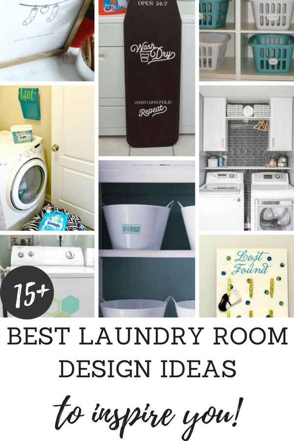 Find the best laundry room design ideas to inspire you to update your laundry room.  You'll see simple laundry room organizing ideas, laundry room decor ideas, and laundry room storage solutions to help you create a laundry room of your dreams. #laundryroom #homedecor #laundryroomdesignideas #organizingideas #storagesolutions #laundryroomorganization #laundryroomupdate