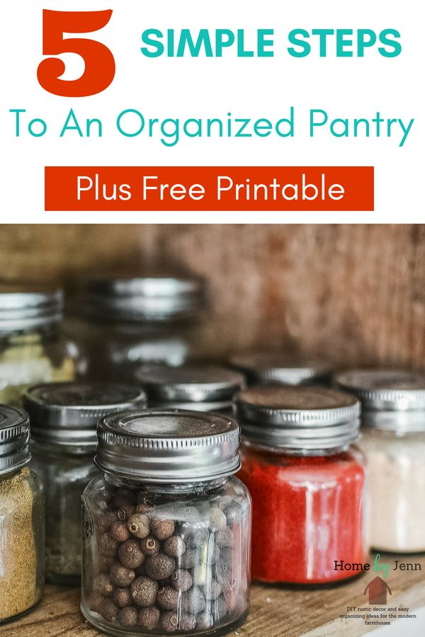5 simple steps to an organized pantry