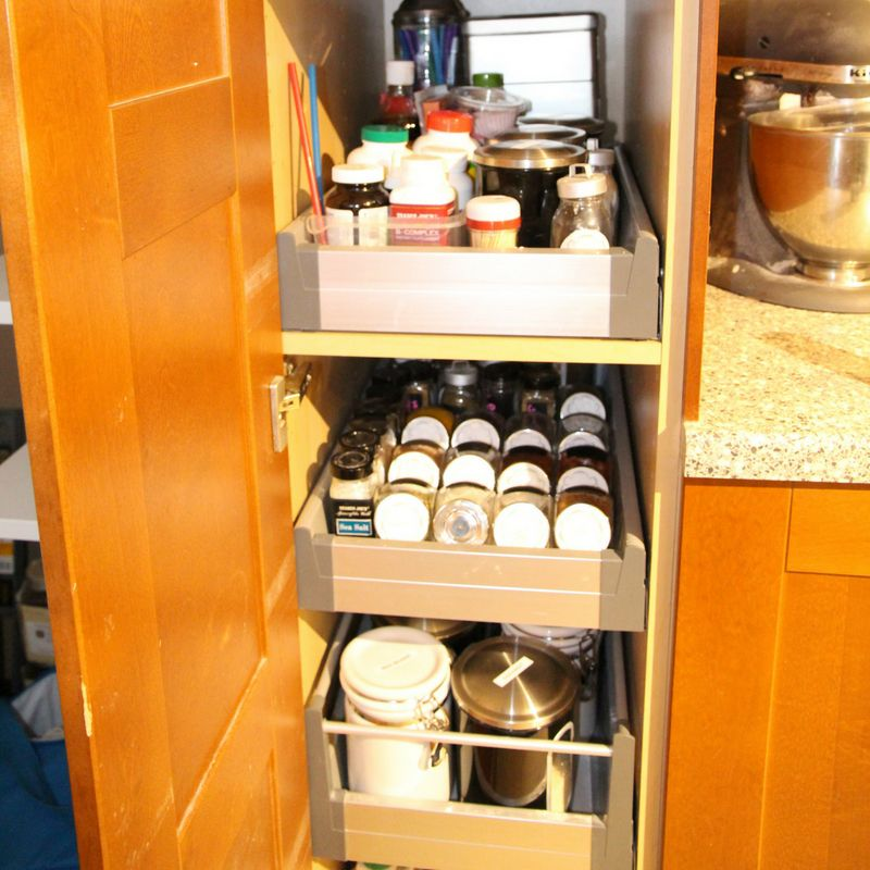 small pantry organization after.