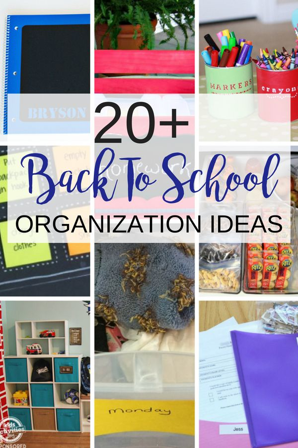Organization for school is hard to do with the sun out but you'll find more than 20 back to school organizing ideas to get you and your family ready for school.  Enjoy back to school checklists, homework stations, and so much more in this post. #backtoschool #organizingideas #backtoschoolchecklist #backtoschooltips #homeworkstation