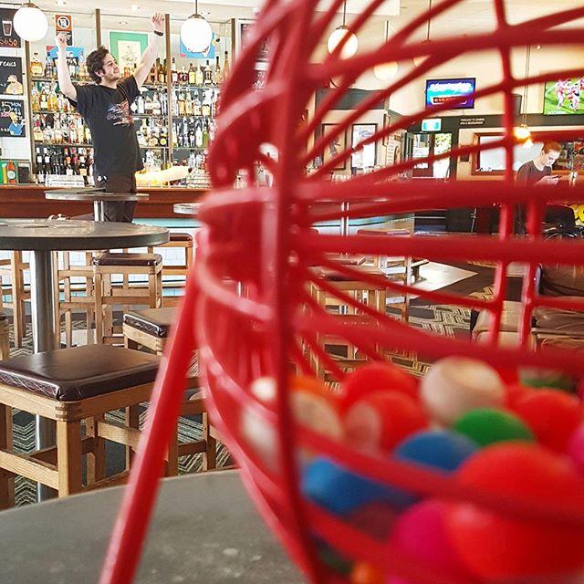 Bingo doesnt start until 7 ben... #bingo #twofatladies #dinnerfortwo #roho #local #beer #ballsup #meattrays #prizes