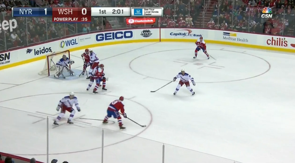 Alex Ovechkin is ferocious from the left faceoff circle largely because he gets a great angle on his shots and can easily hammer one-timers, seeing as how he is on his off-wing. Ovechkin is also one of few players who play their off-wing by choice at even-strength.