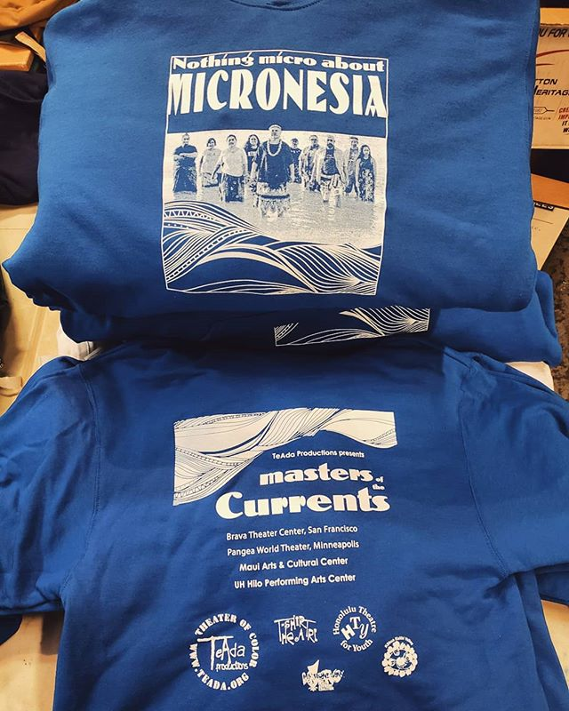 Hoodies and tshirts for #MastersOfTheCurrents #Micronesia #screenprinting #westoakland #oakland #local #revoltsilkscreen #supportlocal #silkscreen #plastisol #localeconomy