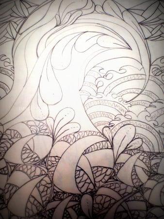 zentangle wave by desiree east