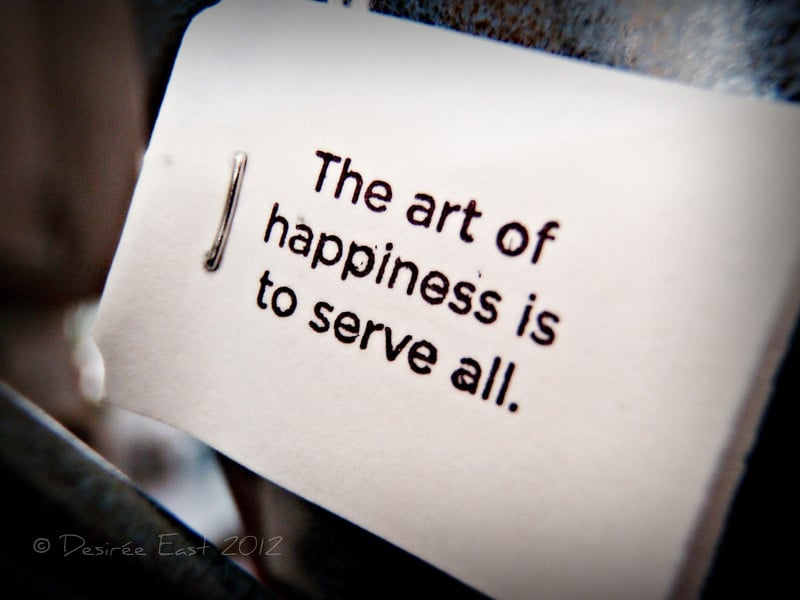 the art of happiness in 2012. photo by desiree east