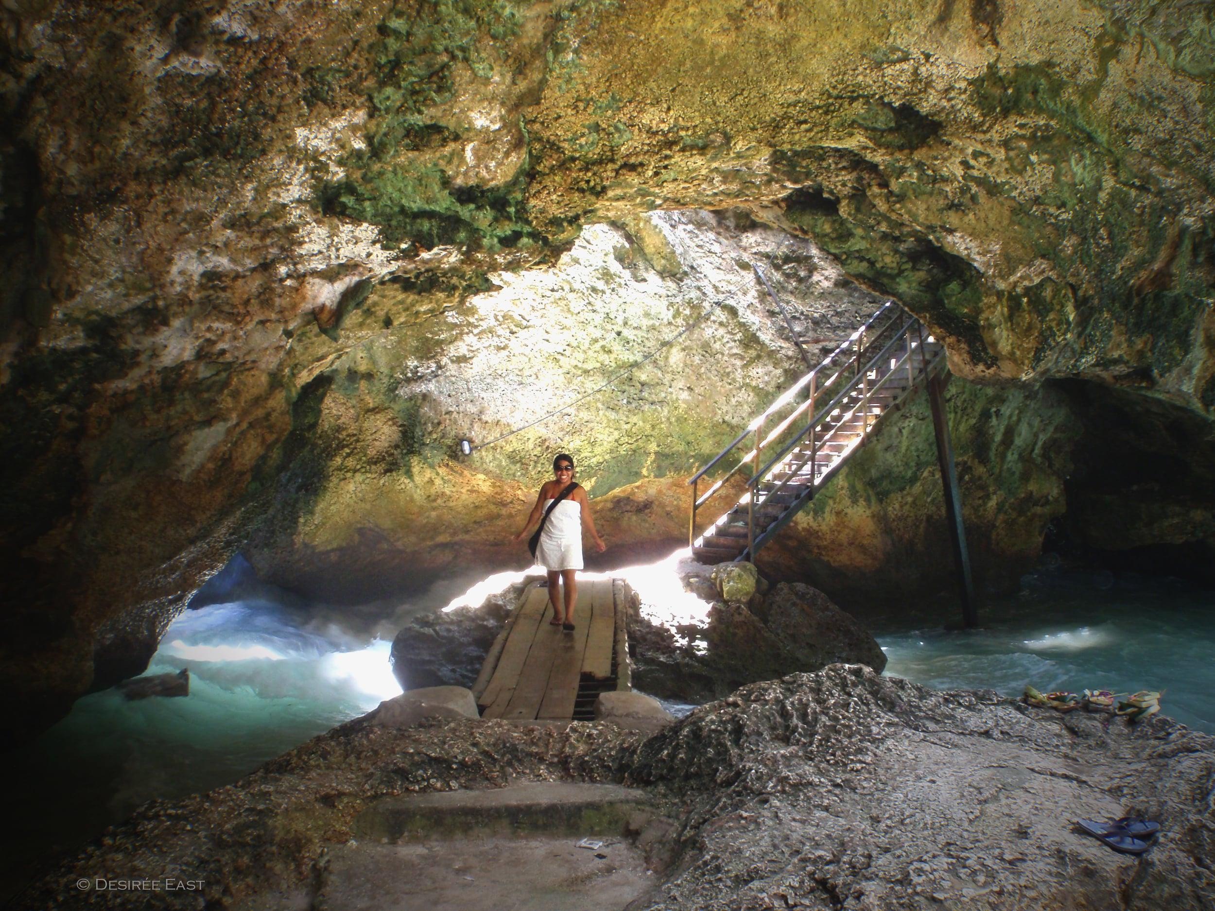 loving the adventure. sea cave at uluwatu, bali. desiree east