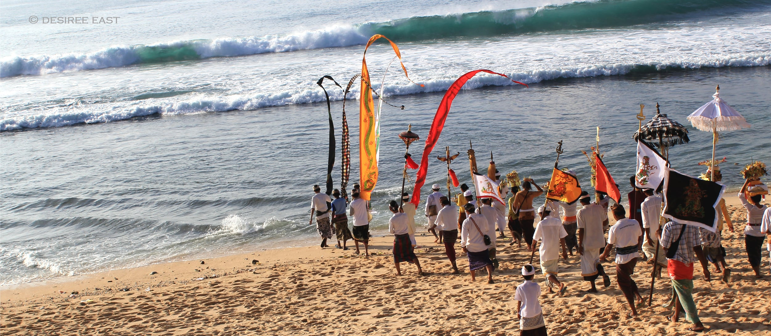a balinese hindu ceremony...offerings to sea. bali, indonesia. photo by desiree east