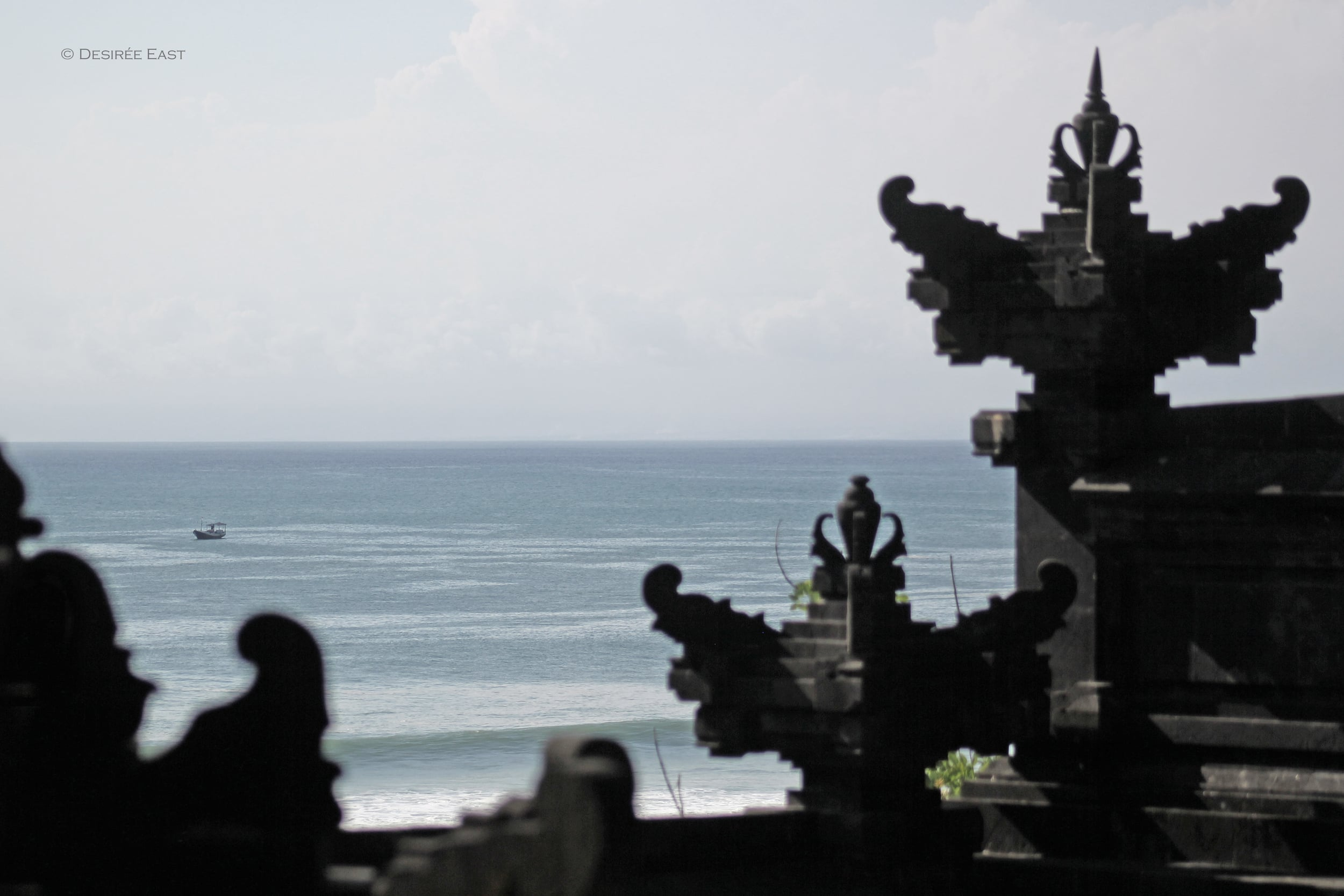temple ocean view. bali, indonesia. photo by desiree east