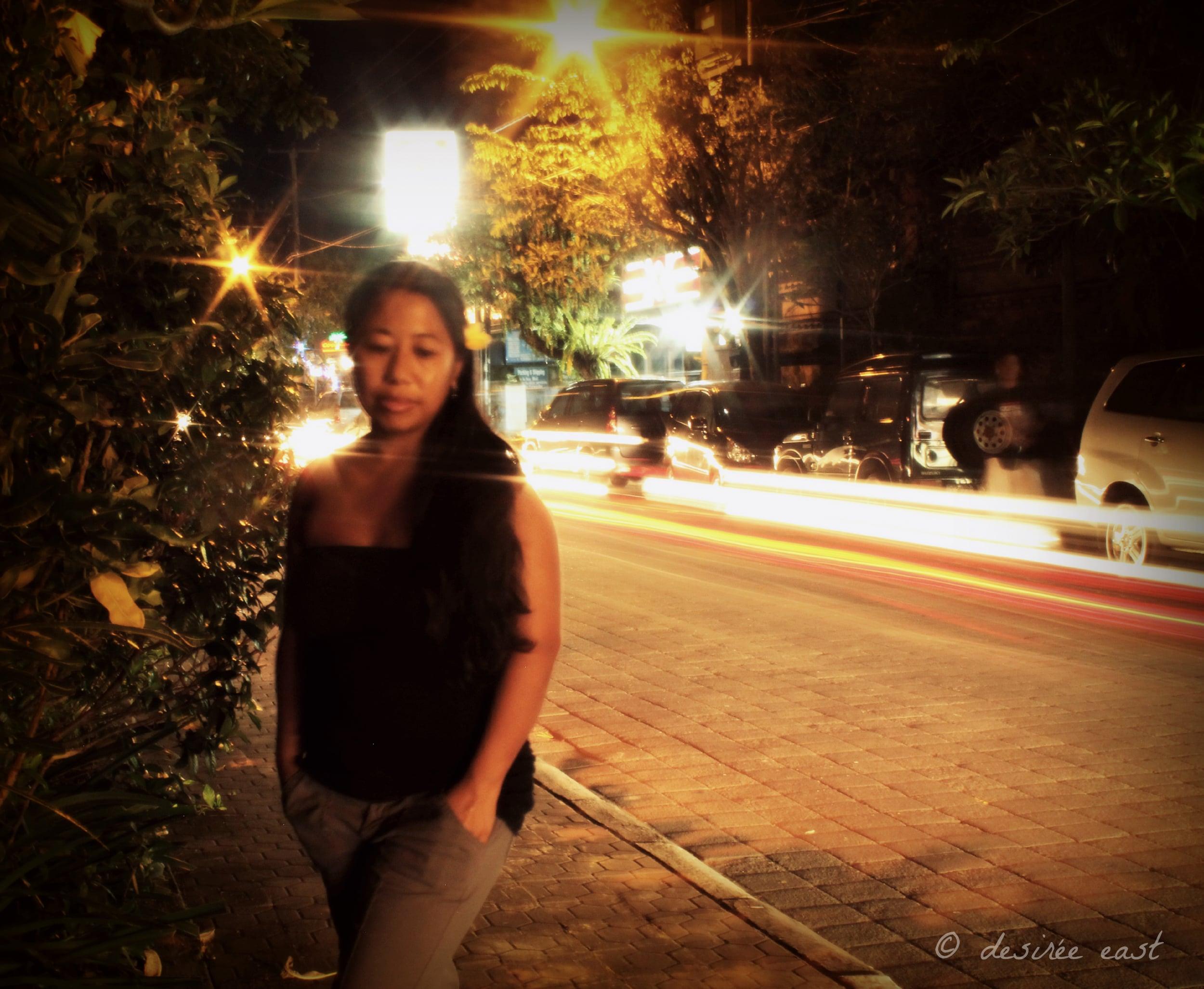 long exposure self-portrait. ubud, bali. photo by desiree east