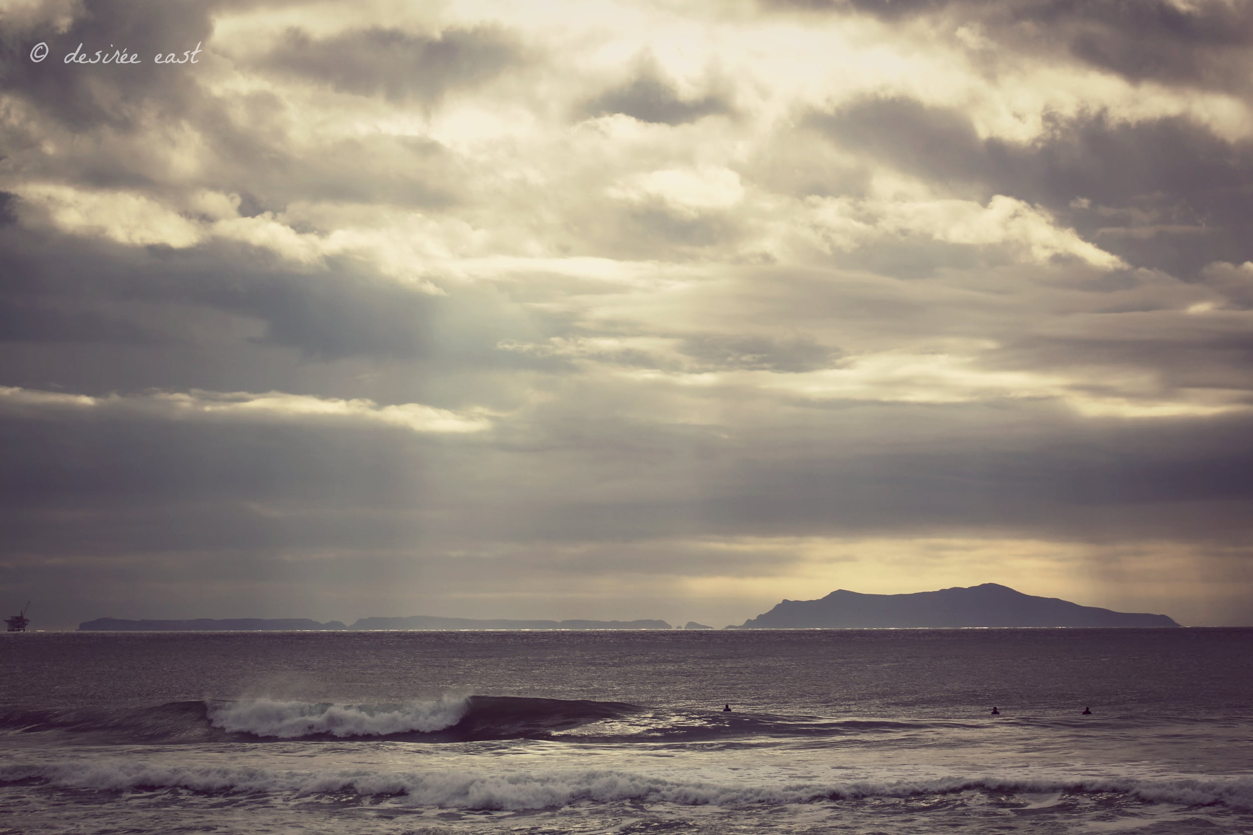 epic view of anacapa island. hollywood beach, california. photo by desiree east