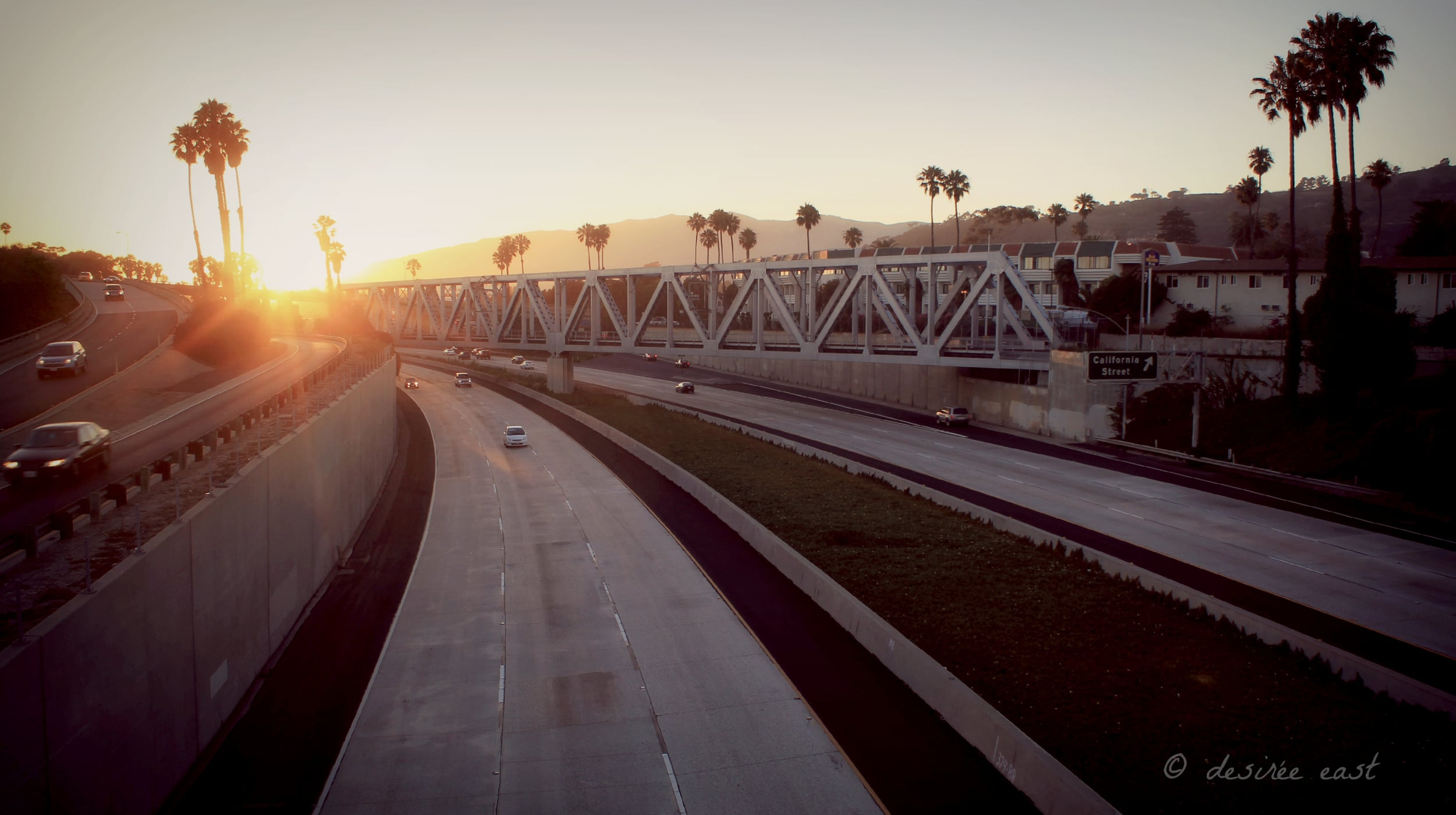 california street bridge train tracks. ventura, california. photo by desiree east