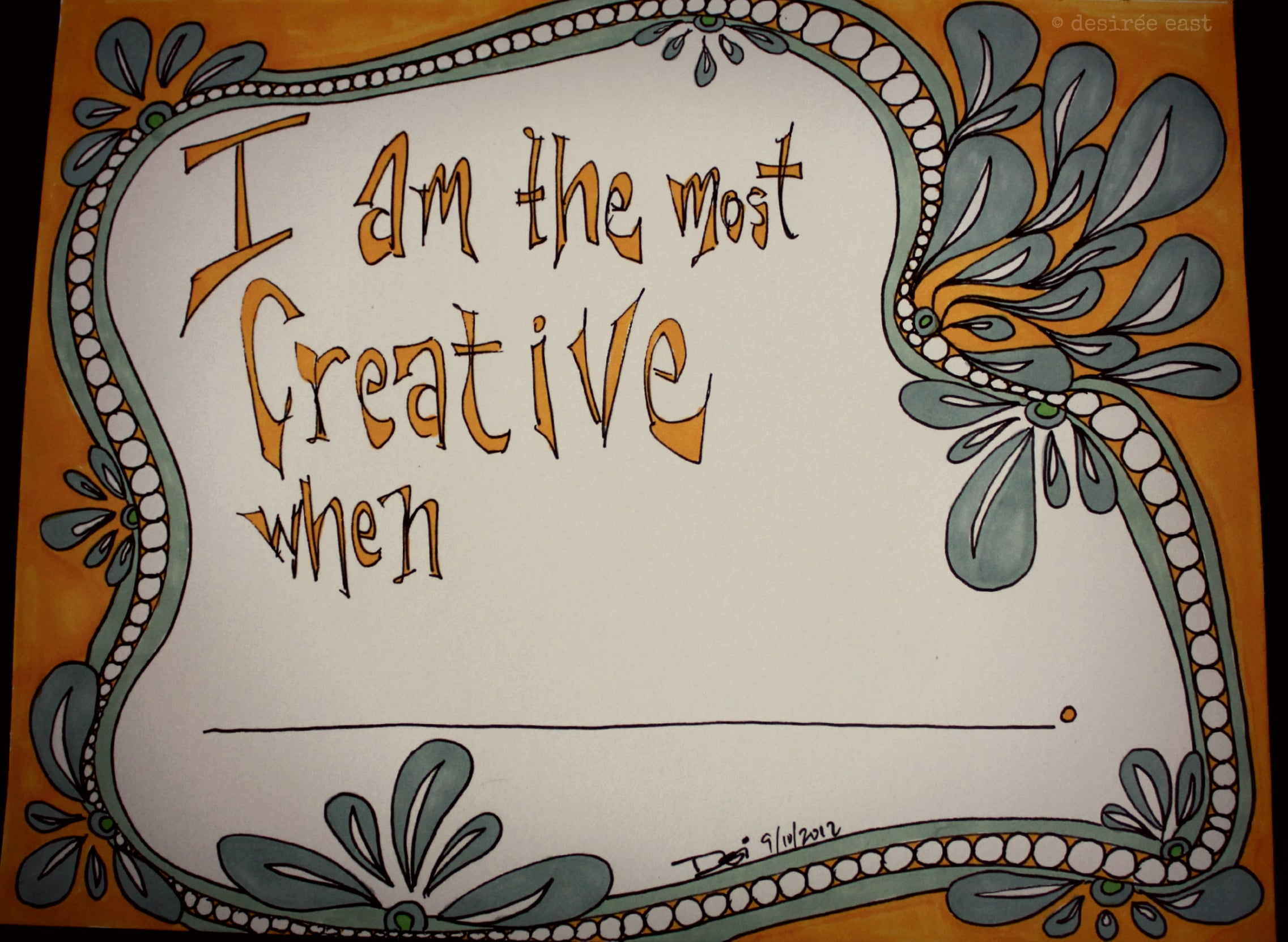 when are you the most creative? illustration by desiree east