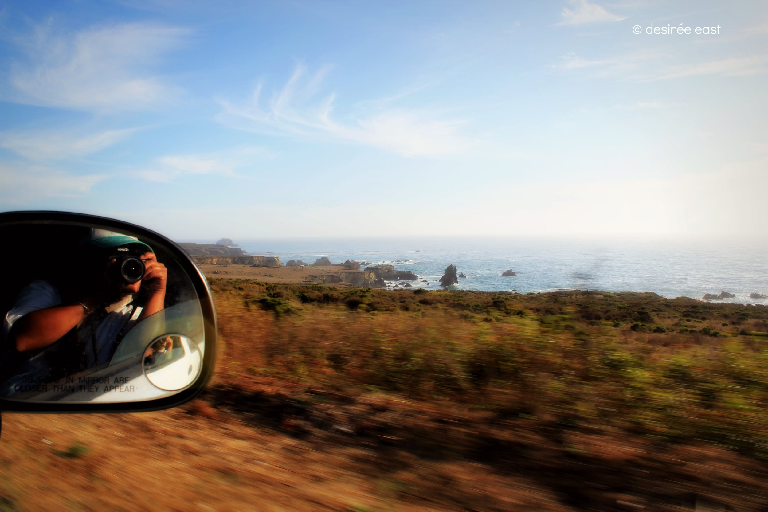 driving along the central coast. big sur, california. photo by desiree east.
