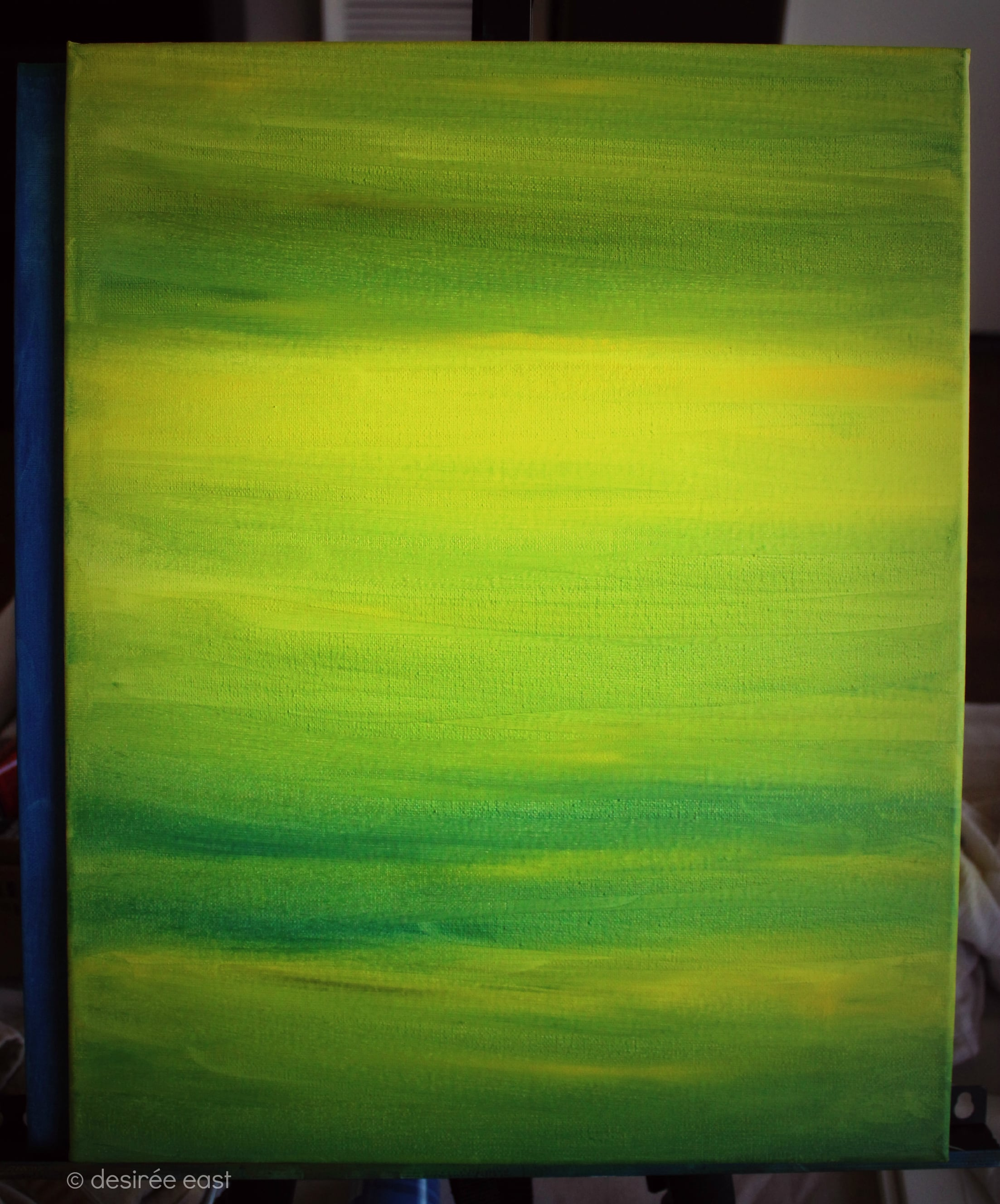 Painting Marathon, base layer on 2nd canvas. painting by Desiree East