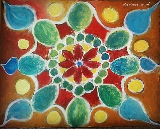 mandala painting by desiree east