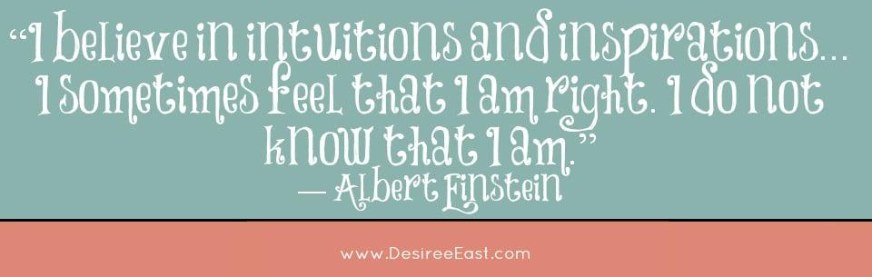 einstein quote - intuition