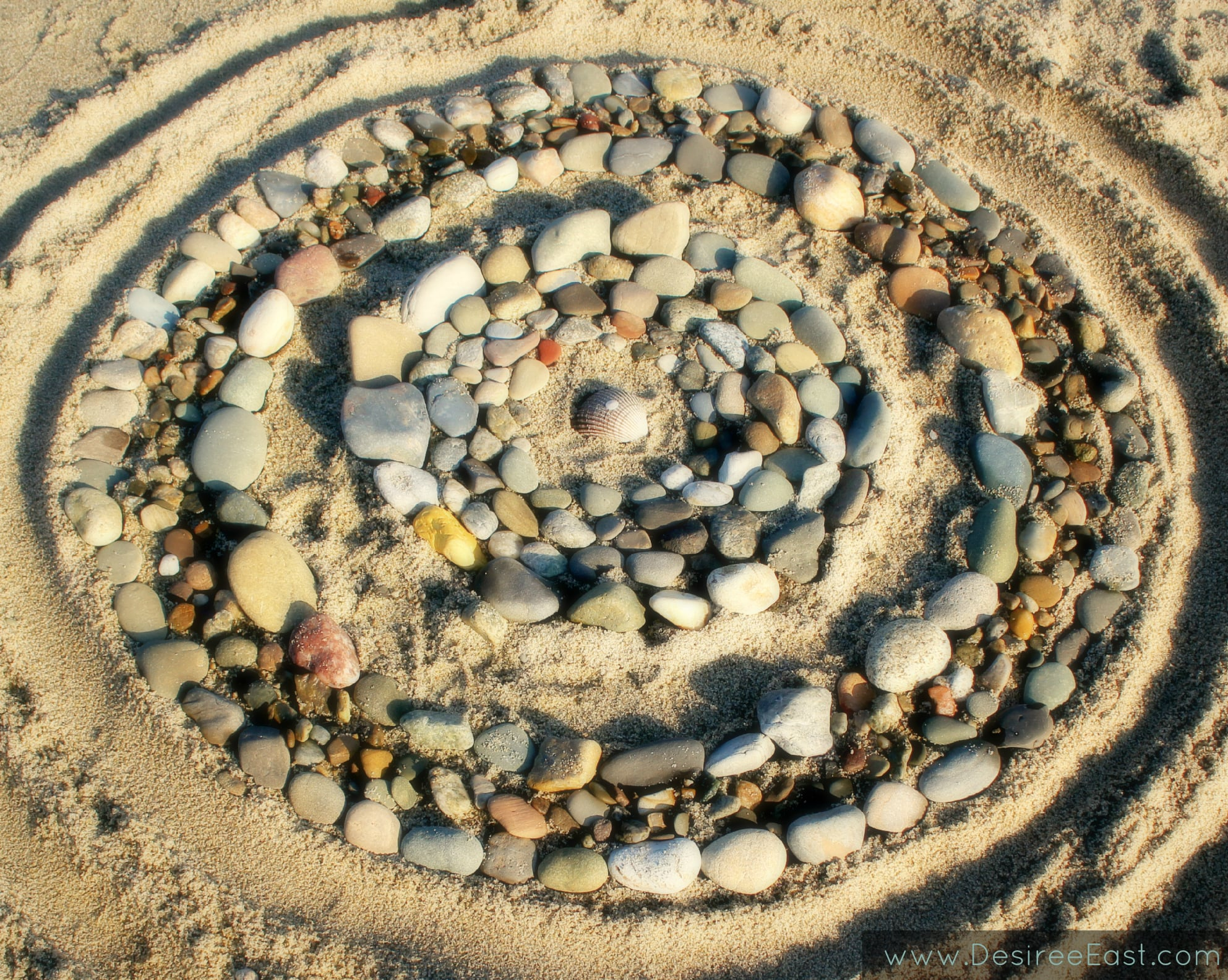 beach mandala winter 2014 by desiree east