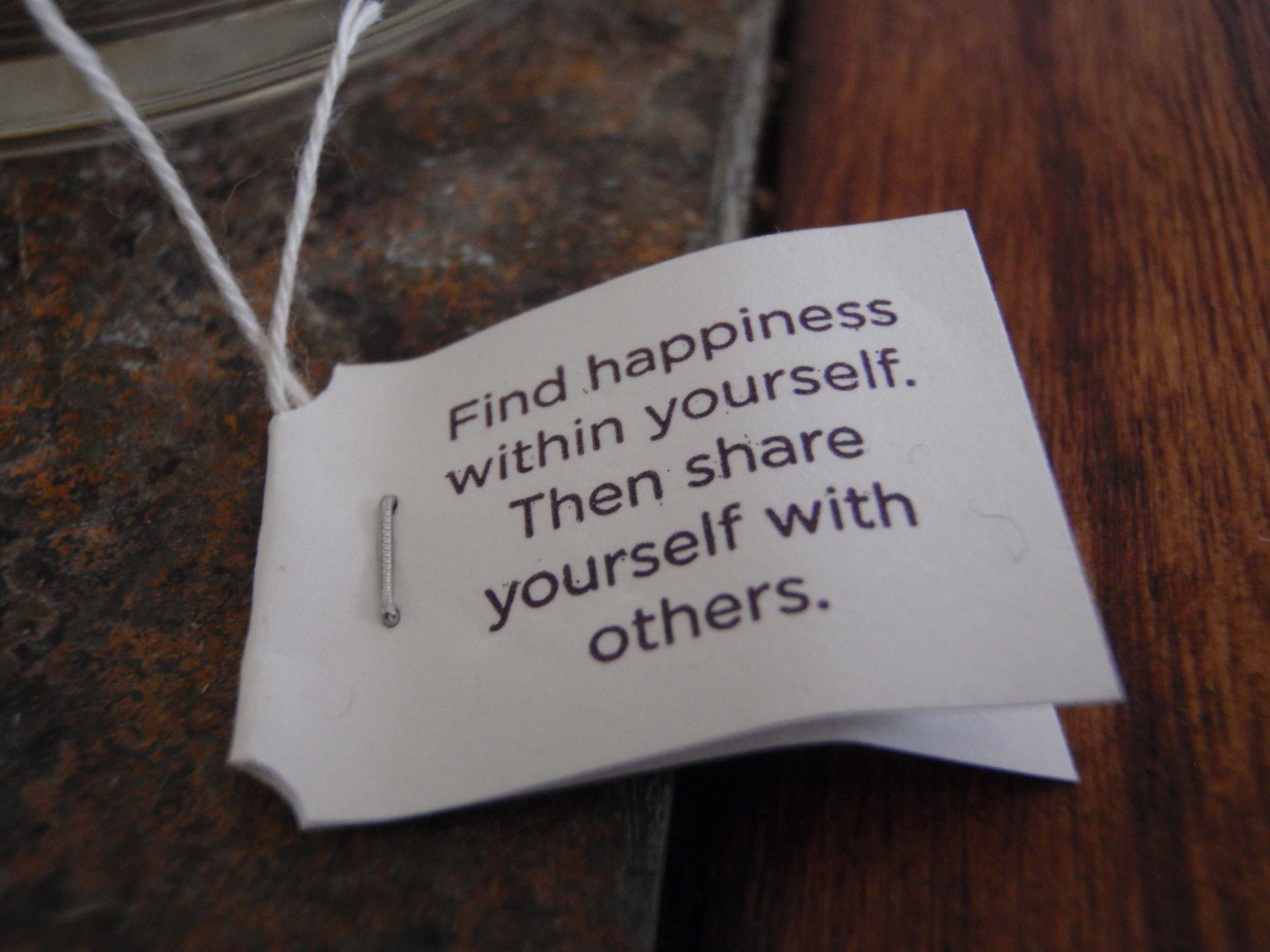 find happiness within yourself then share yourself with others