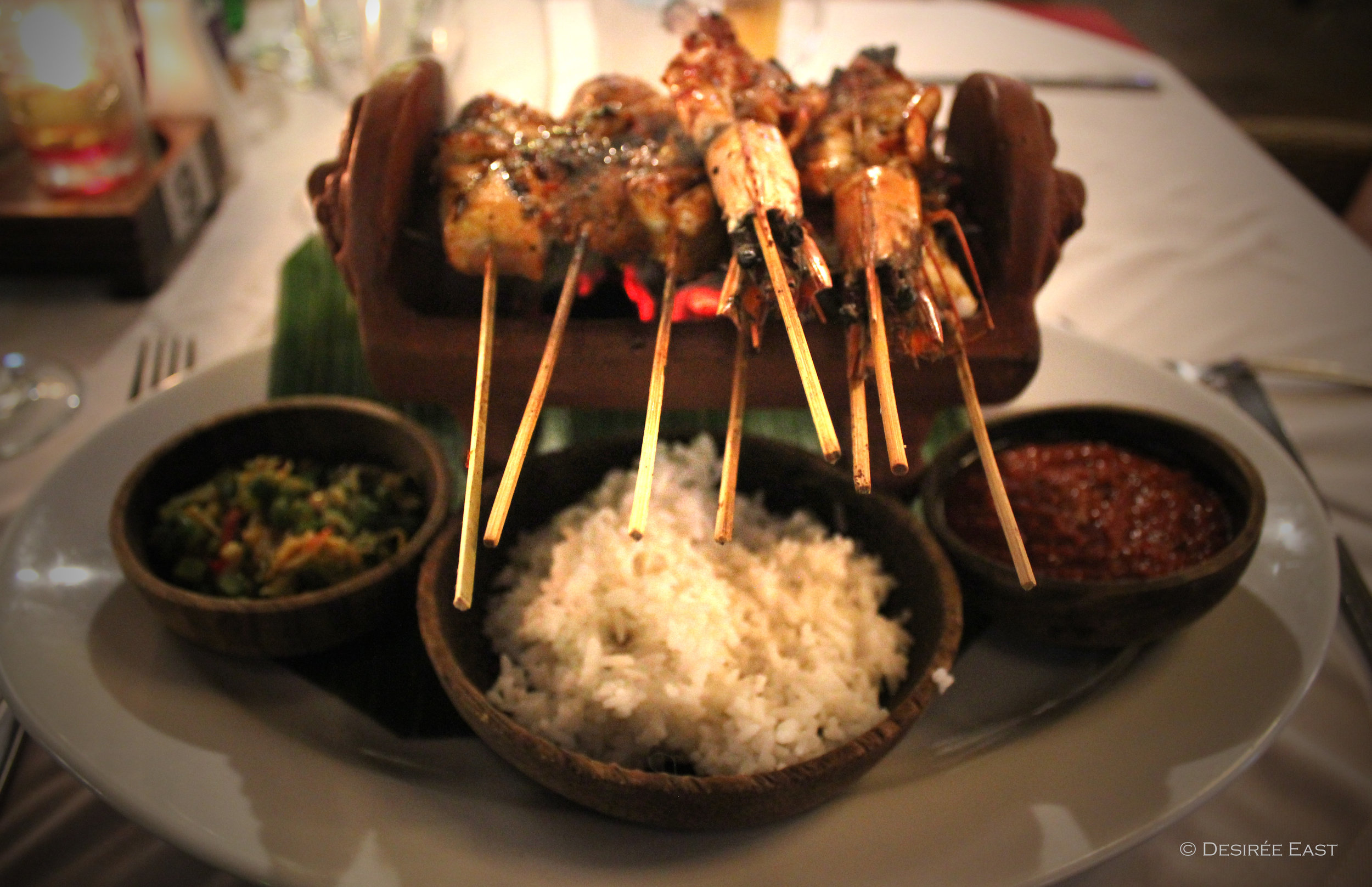 balinese seafood satay. bali, indonesia. photo by desiree east