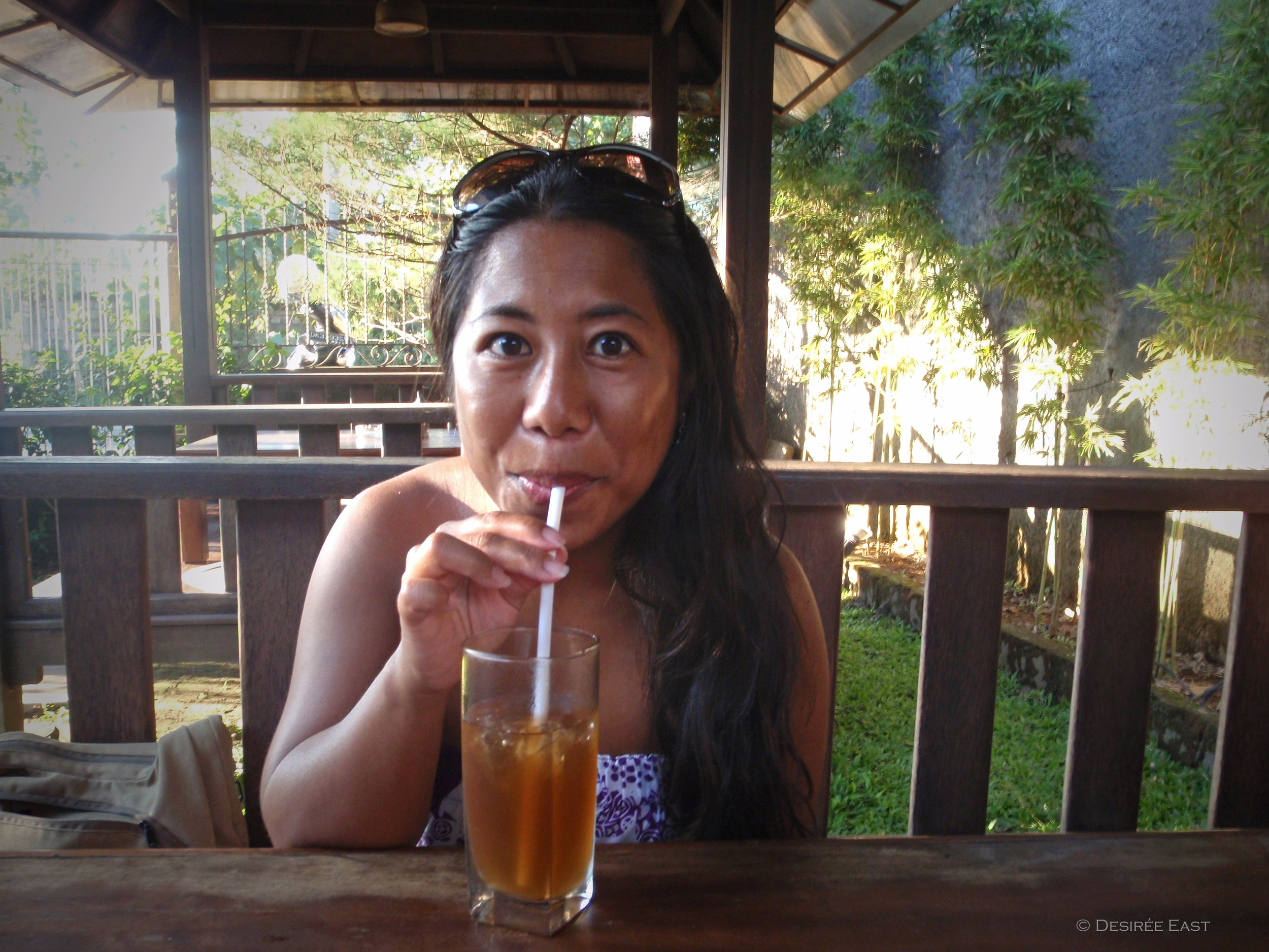 we like lemon iced tea, too. bali, indonesia. desiree east