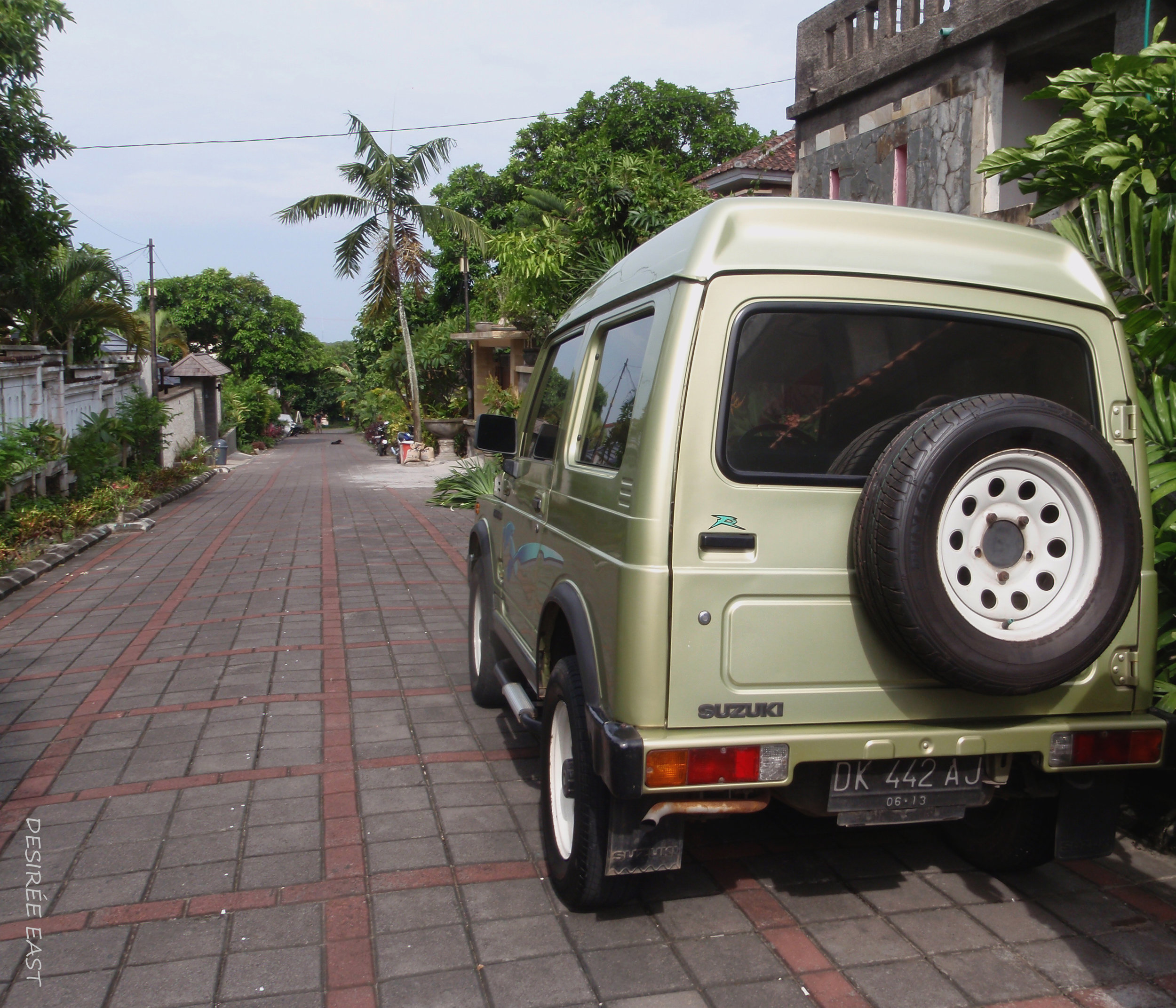 parking at andree homestay. bali, indonesia. photo by desiree east