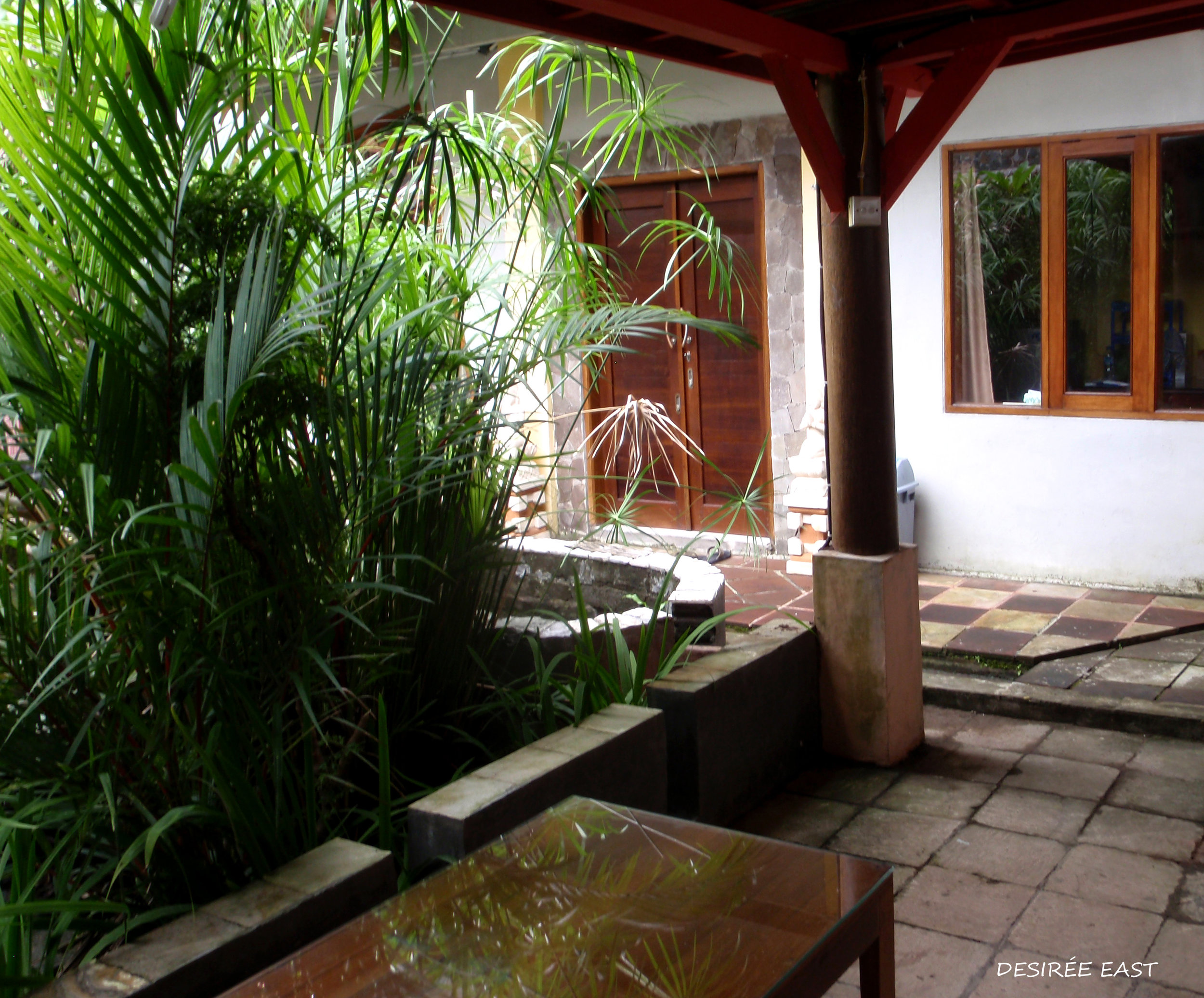 our front door. andree homestay. bali, indonesia. photo by desiree east