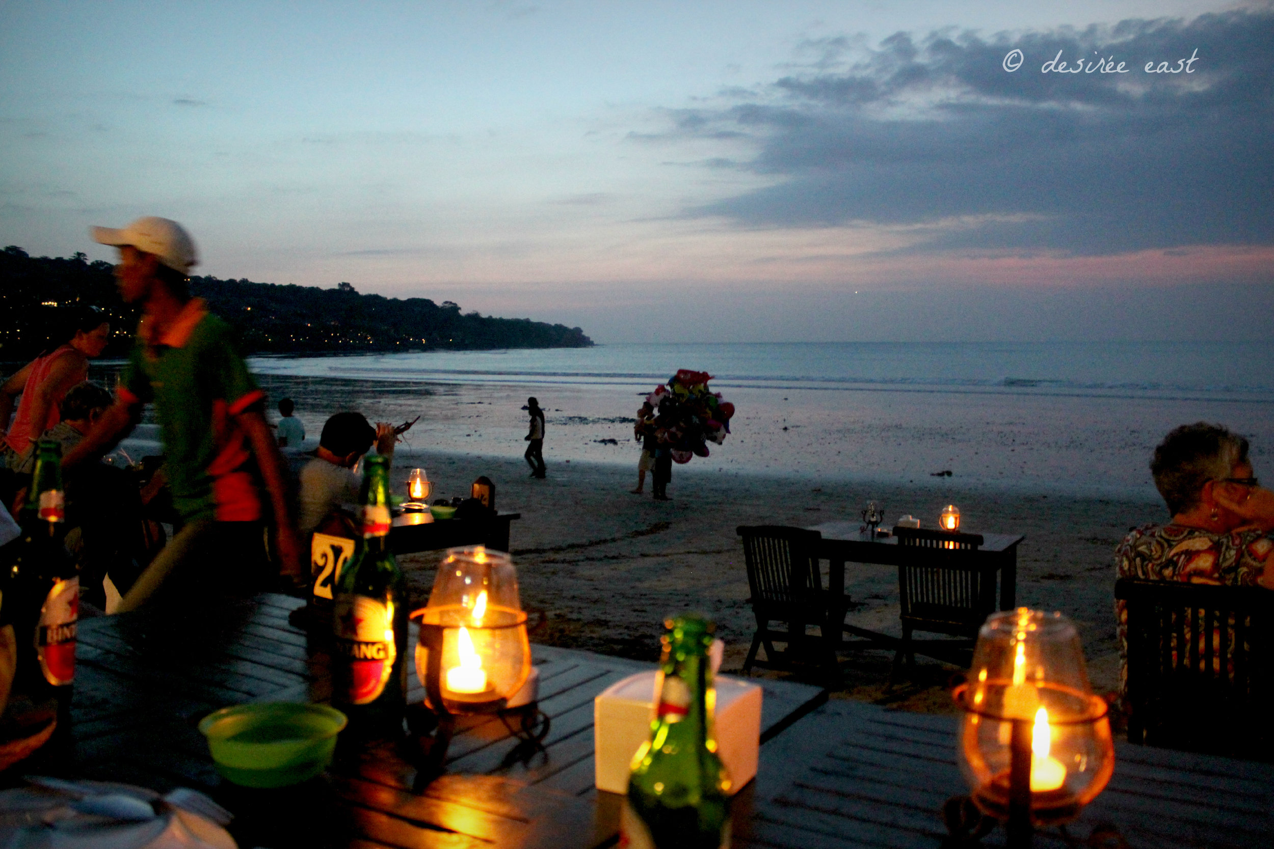 seafood dinner on the beach. jimbaran, bali. photo by desiree east